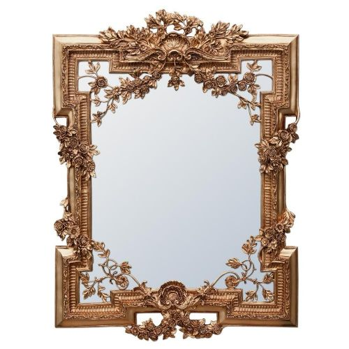 Francesca Floral Antique Gold Decorative Mirror